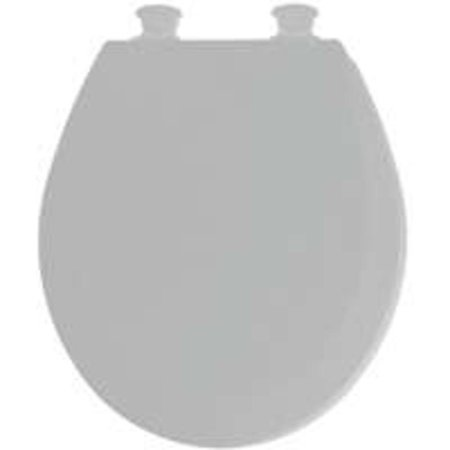 Groovy Bemis Mfg 46Ec 162 Round Molded Wood Toilet Seat Easy Clean Change Hinge Silver Ocoug Best Dining Table And Chair Ideas Images Ocougorg