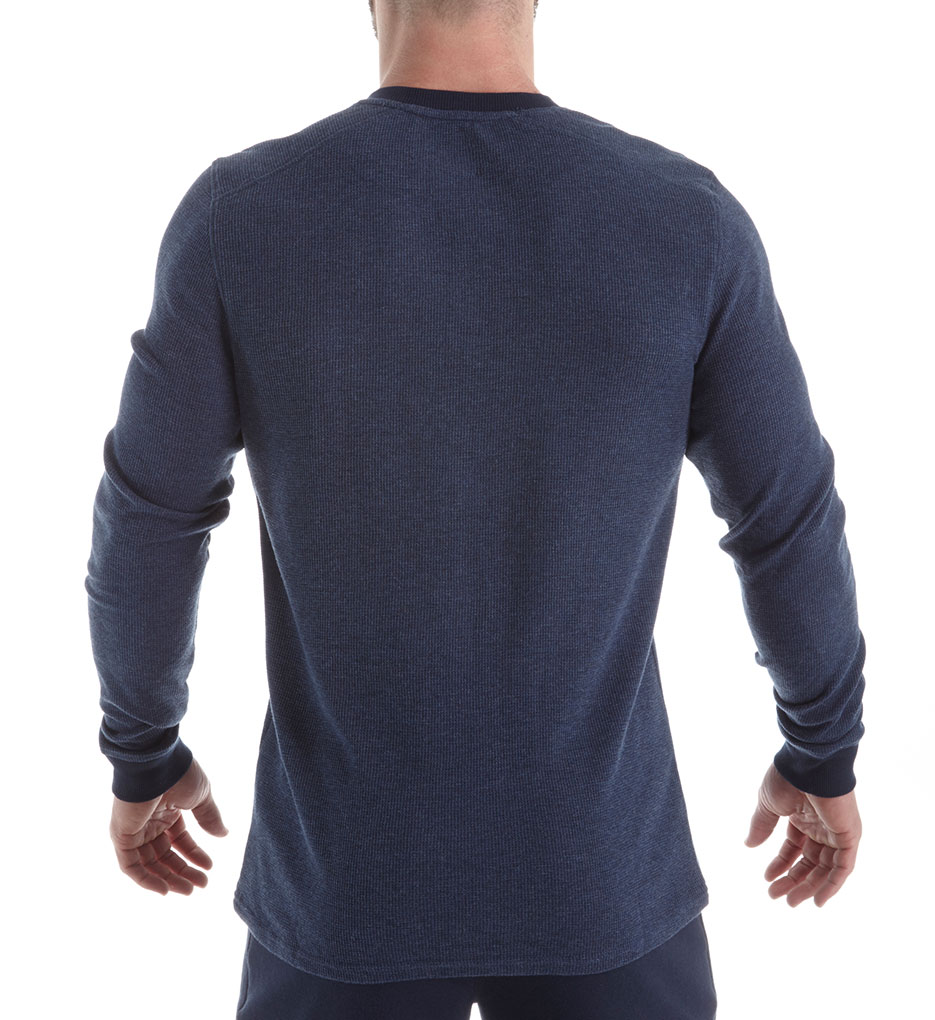 9d32bd62 Bread and Boxers - Men's Bread and Boxers BNBUS316 Men's Long Sleeve  Thermal Henley (Navy L) - Walmart.com