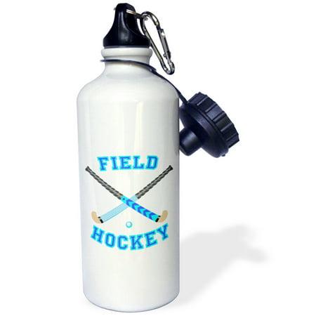 3Drose Blue And Aqua Field Hockey Sports Design  Sports Water Bottle  21Oz