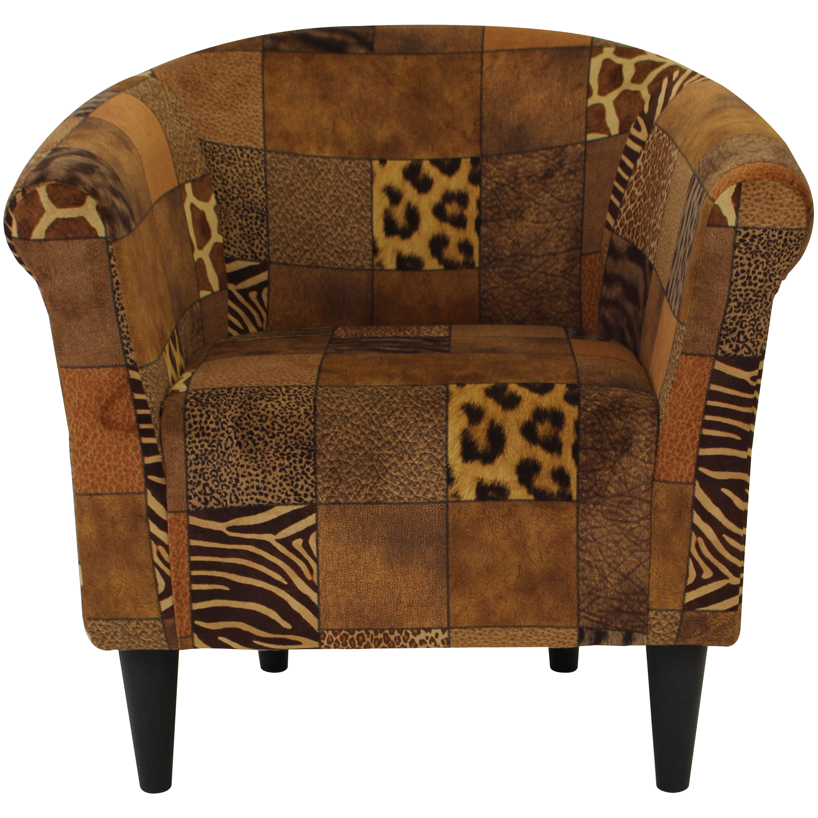 Newport Club Chair - Cowhide Black