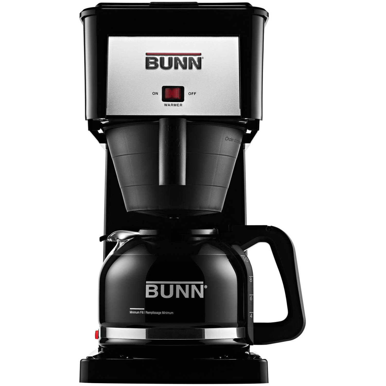 BUNN GRB-D Velocity Brew 10-Cup Coffee Brewer, Black, High Altitude, 38300.0065