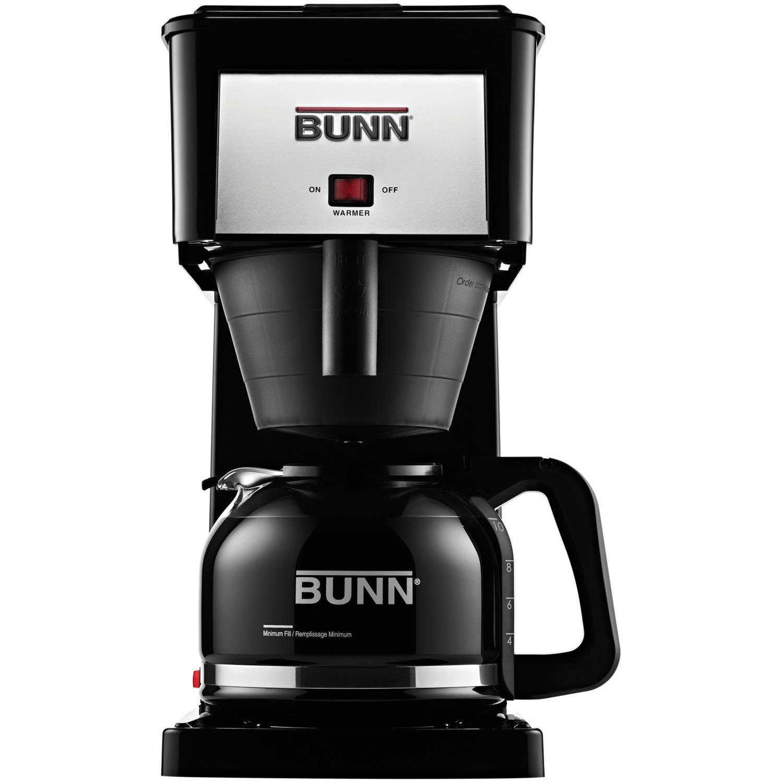BUNN GRB-D Velocity Brew 10-Cup Coffee Brewer, Black, Hig...