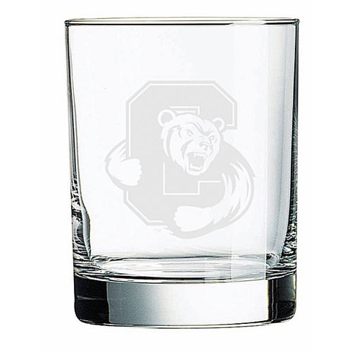 NCAA - Cornell Big Red 14 oz Deep Etched Double Old Fashion Glass