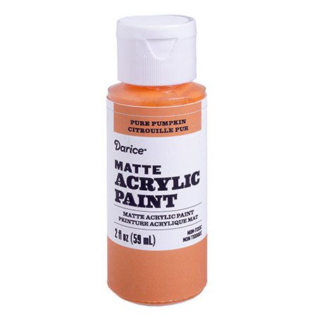 Glide this pure pumpkin matte acrylic paint across your canvas for a bright shade of autumn. Blend it with other colors to create warm stills and (Bright Pumpkin)