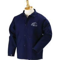 "Black Stallion FN9-30C 30"" 9oz. Navy FR Cotton Welding Jacket,  Medium"