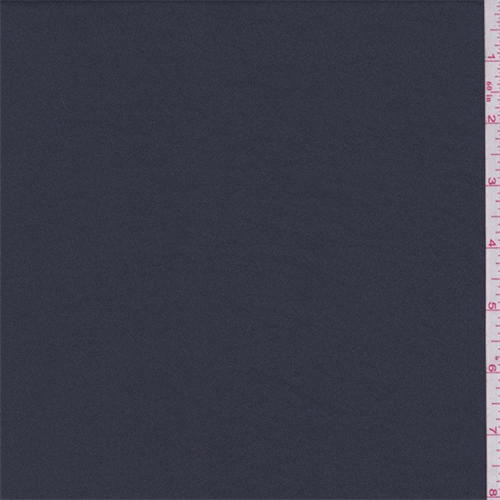 Mediterranean Blue Polyester Crepe, Fabric By the Yard