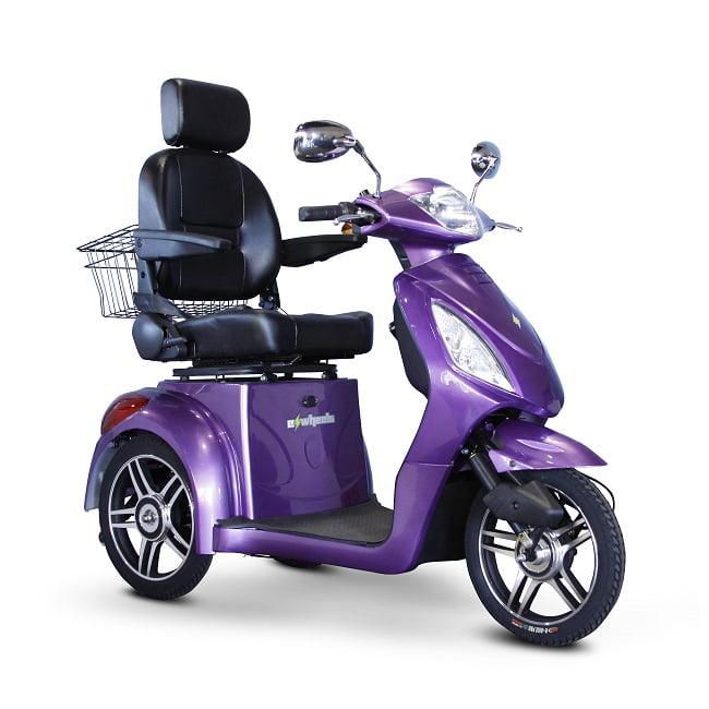E-Wheels - EW-36 Slowpoke Scooter with Electromagnetic Brakes - 3-Wheel - Lavender