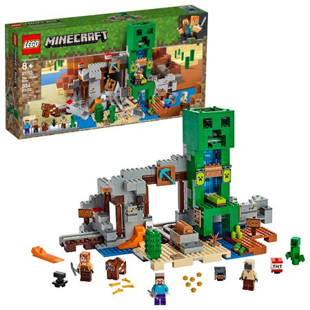 LEGO Minecraft The Creeper Mine 21155 Toy Rail Track Building Set (830 (Best Minecraft Building Ideas)