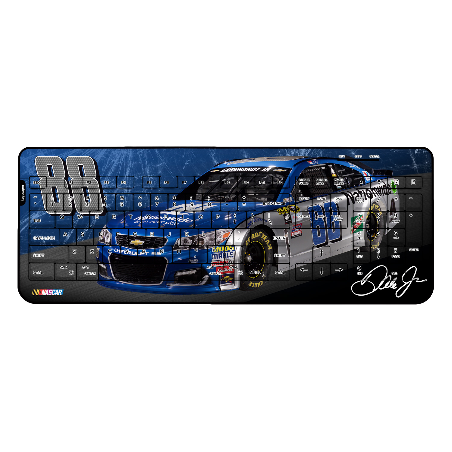 Dale Earnhardt Jr Wireless USB Keyboard NASCAR
