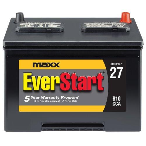 EverStart Maxx Lead Acid Automotive Battery, Group 27