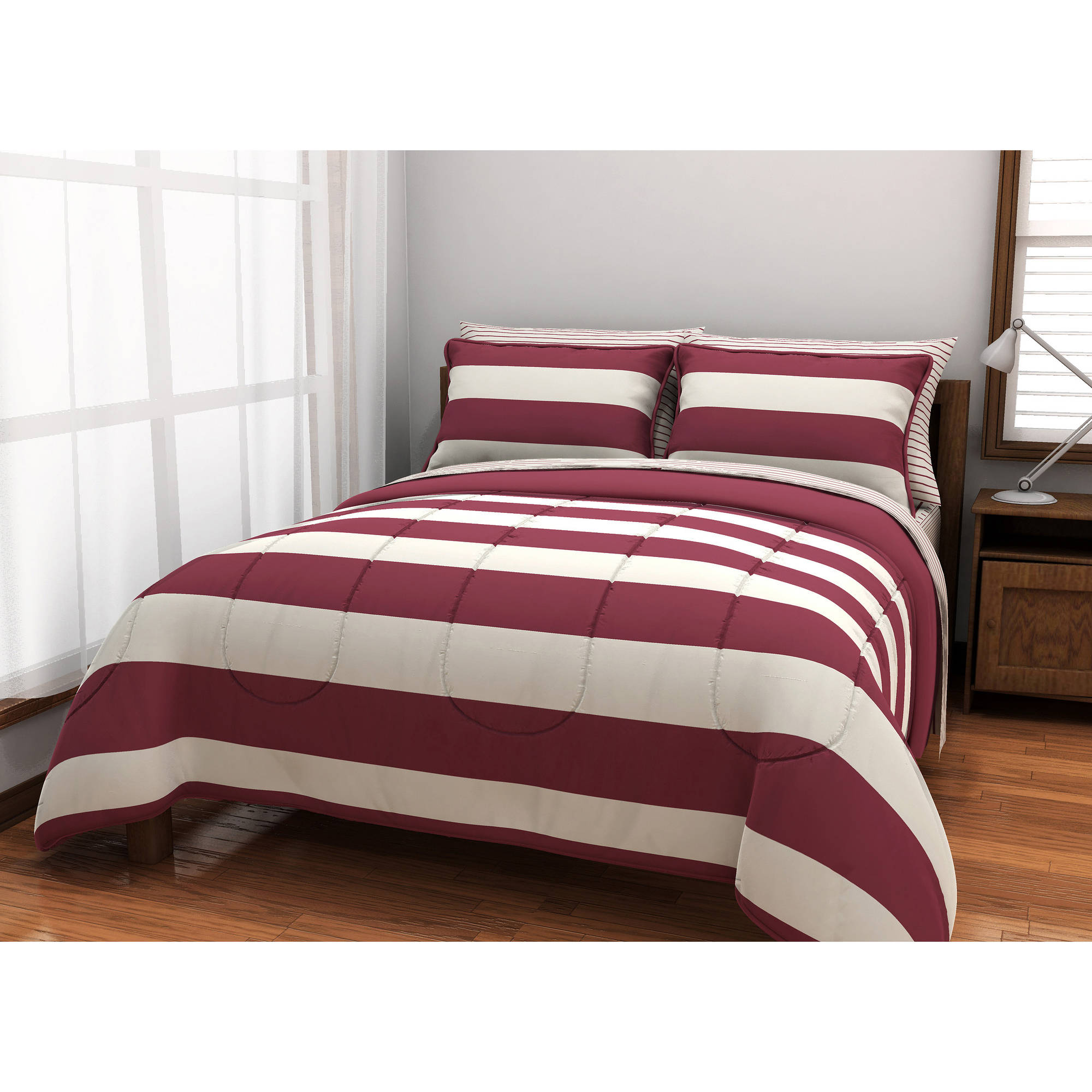 American Originals Rugby Stripe Bed in a Bag Bedding Set Walmart