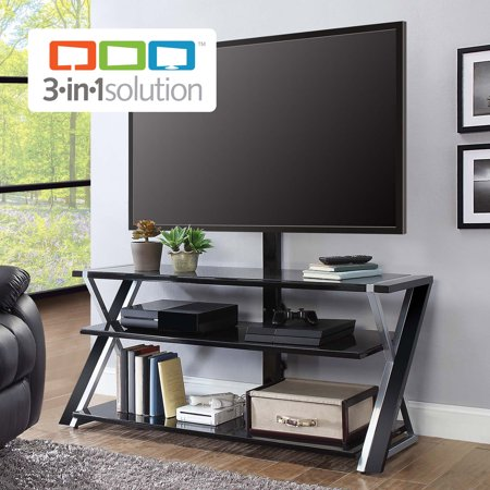 Black Flat Panel Audio (Whalen Xavier 3-in-1 TV Stand for TVs up to 70
