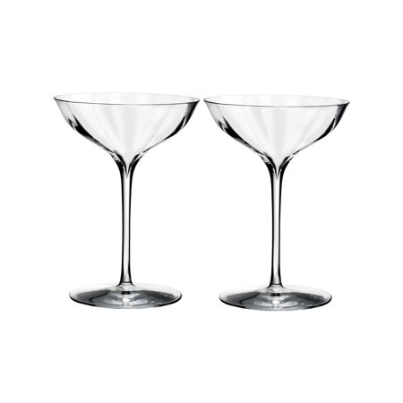 Waterford Elegance Optic Belle Coupe Glass - Set of 2 Waterford Crystal Martini Glasses