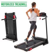 Jaxpety Folding Treadmill 2.0 HP Electric Motorized Fitness Running Home Machine 6.with LCD display/ iPad and Drink Holder