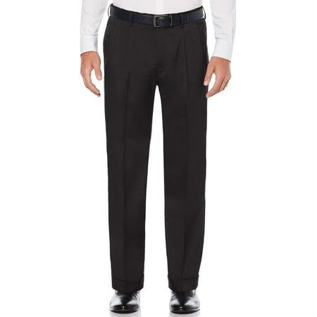 Big & Tall Pleated Stretch Crosshatch Dress Pant Big Tall Ski Pants