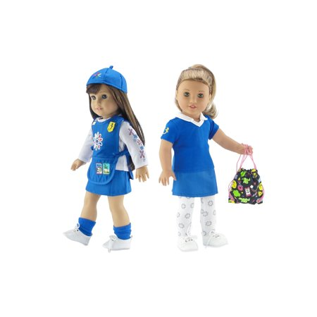 Emily Rose 18 Inch Doll Clothes | Daisy Girl Scout 8 Piece Uniform and Accessory Value Pack | Fits American Girl Dolls | Gift Boxed! ()