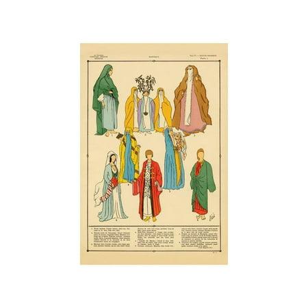 Modern Egyptian Feminine Costume #2 Print (Unframed Paper Print 20x30) - Feminine Costumes