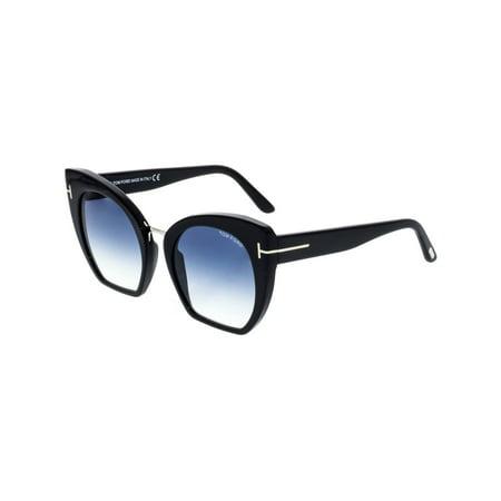 1f9f62312226 Tom Ford - Tom Ford Women s Gradient Samantha FT0553-01W-55 Black Cat Eye  Sunglasses - Walmart.com