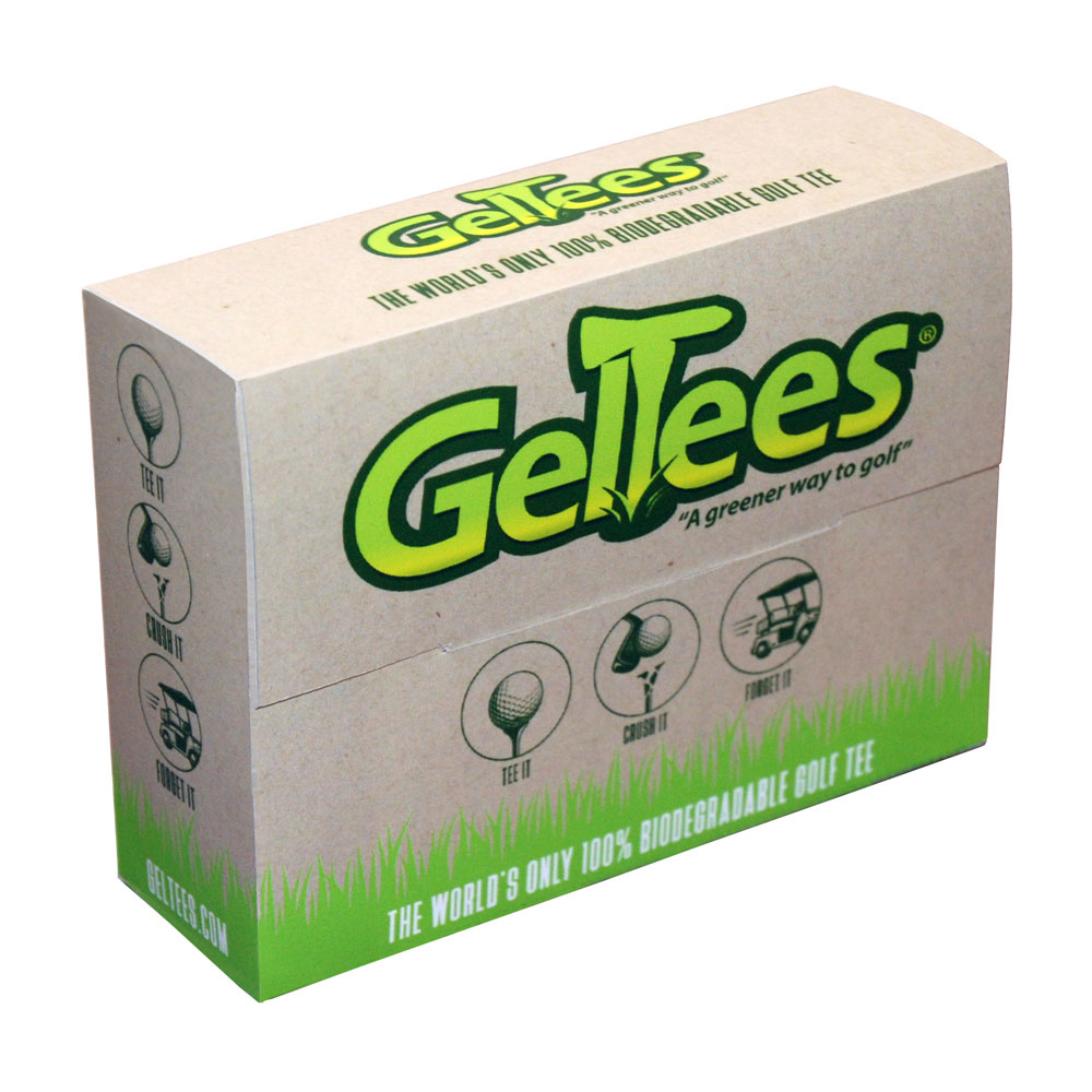"GelTees Biodegradable Gelatin Golf Tees ECO friendly 2-3/4"" Red"
