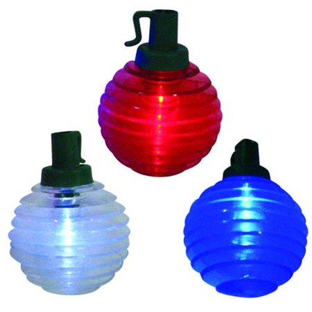 Set of 10 B/O LED Patriotic Red, White and Blue Shimmer Globe Lights - Green Wire](Red White And Blue Lights)