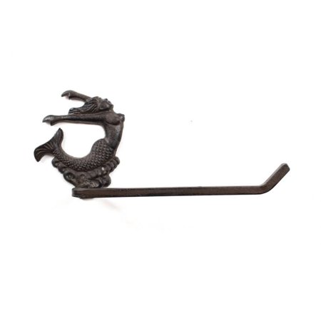 - Cast Iron Decorative Arching Mermaid Toilet Paper Holder 11