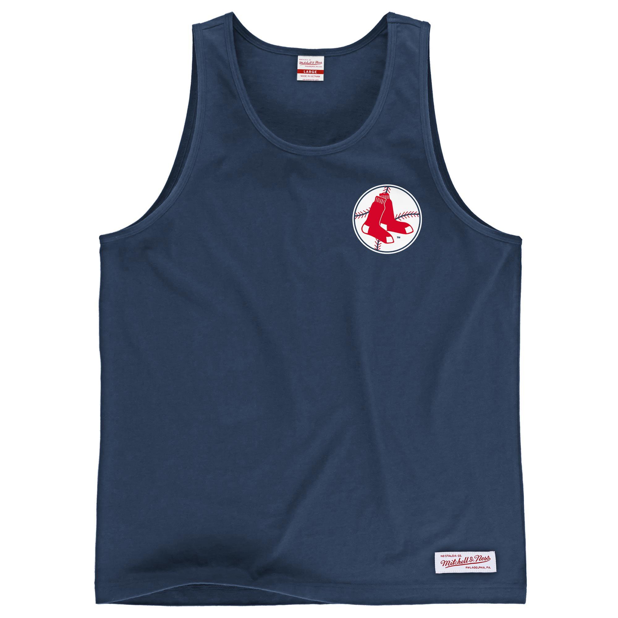 Boston Red Sox Mitchell & Ness Batter's Box Tank Top - Navy