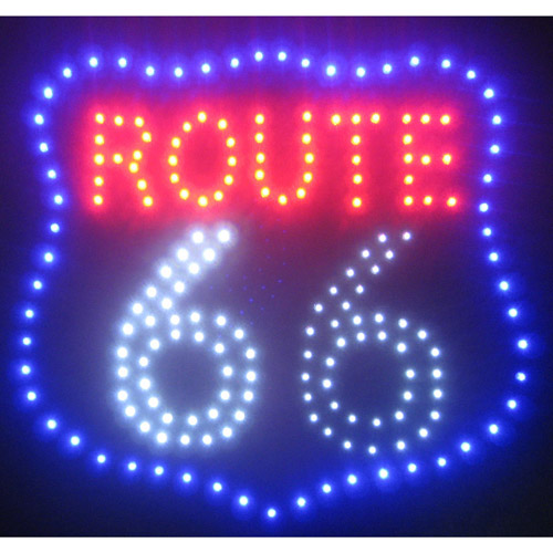 Route 66 LED Sign, Black
