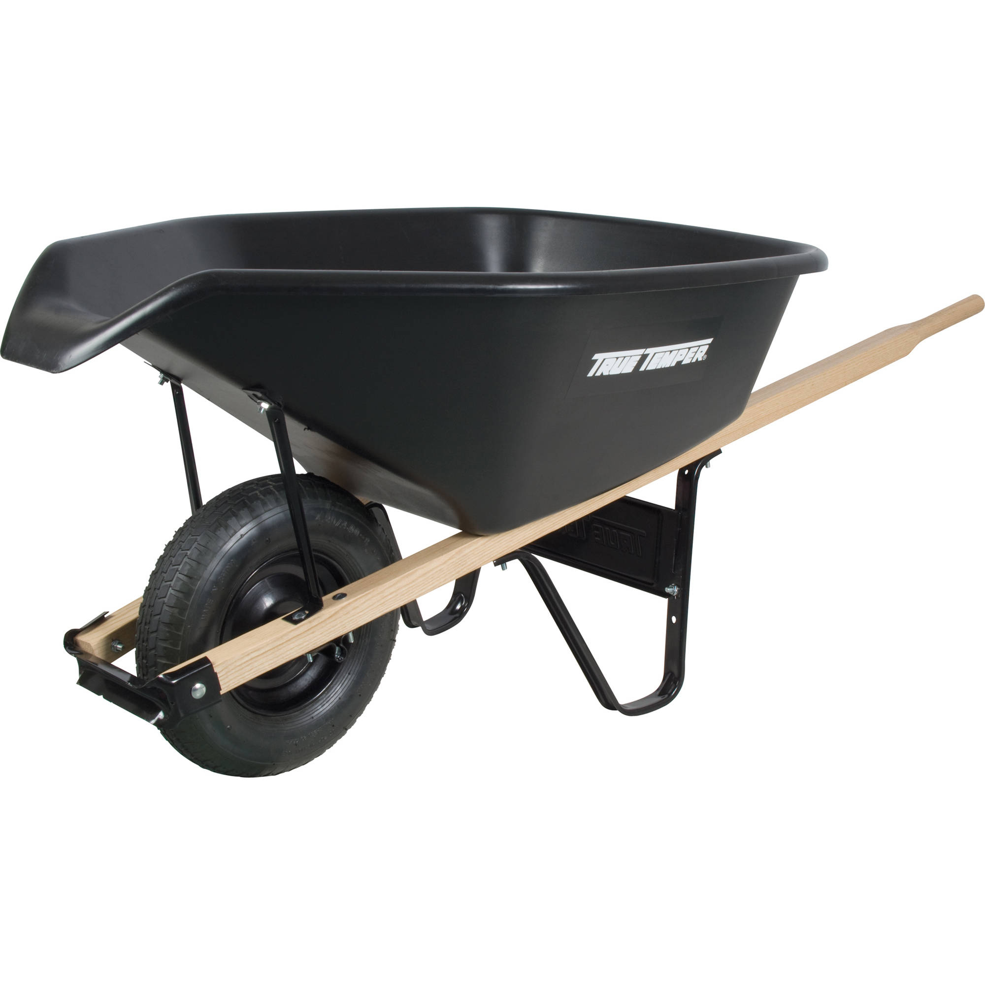 Ames CP6PS 6 Cubic Feet Black Poly Wheelbarrow
