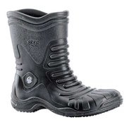 Shoes For Crews Size 10 Plain Toe Boots, Unisex, Black, 5004