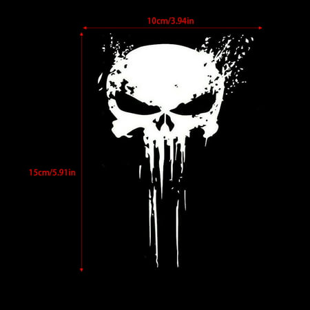 Punisher Skull Blood Vinyl Car Decals Stickers Motorcycles Decoration - image 5 of 5