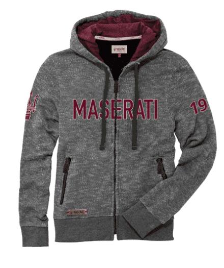 Maserati Classiche Mens Logo T-Shirt Bordeaux Red