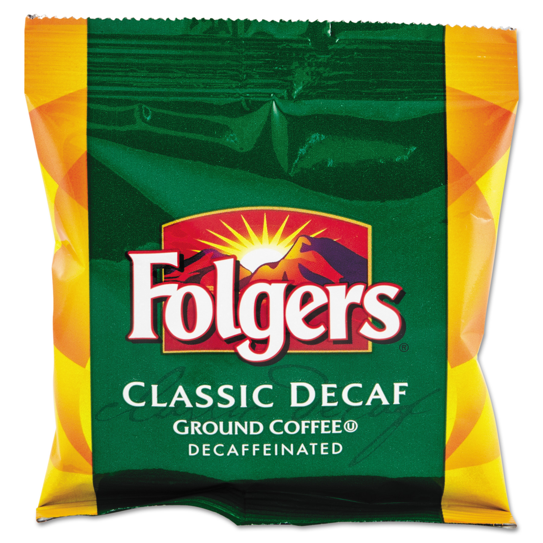 Folgers Coffee Classic Roast Decaf Coffee Fraction Packs, 1.5 oz, 42 count