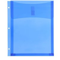 Pack of 12 Binder Pockets, Plastic Folders 8.5 x 11 inches Letter Sized Dividers, Blue