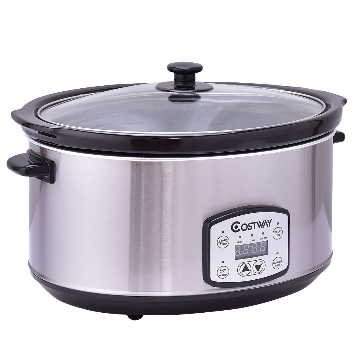 7 Quart Electric Oval Stainless Steel Slow Cooker by