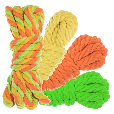 Twisted Natural Cotton Rope 40 and 100 Foot Combo Kits - Super Soft 3 Strand Artisan Crafting Cord - Variety of Colors - 1/4 and 1/2 inch Diameters - Jewelry, -