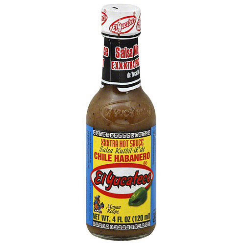 El Yucateco Chile Habanero XXXtra Hot Sauce, 4 fl oz, (Pack of 12) by Generic