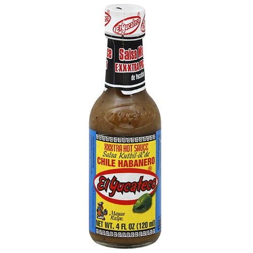 El Yucateco Chile Habanero XXXtra Hot Sauce, 4 fl oz, (Pack of 12)