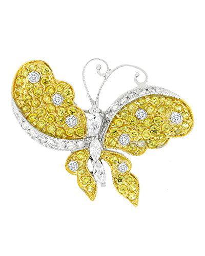 Golden Butterfly Brooch by Kate Bissett