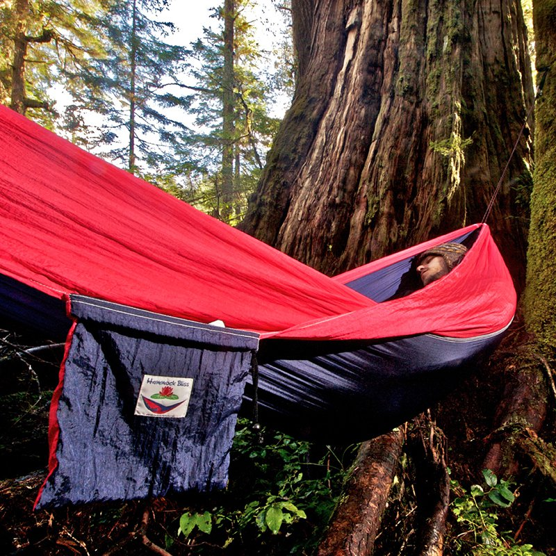 Hammock Bliss Single  - Navy/Red