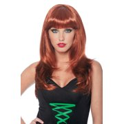 Womens Natural Red Bangs Sexy Halloween Wig
