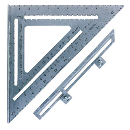 Swanson Tool S0107 12  The Big 12 Speed Square With Layout Bar