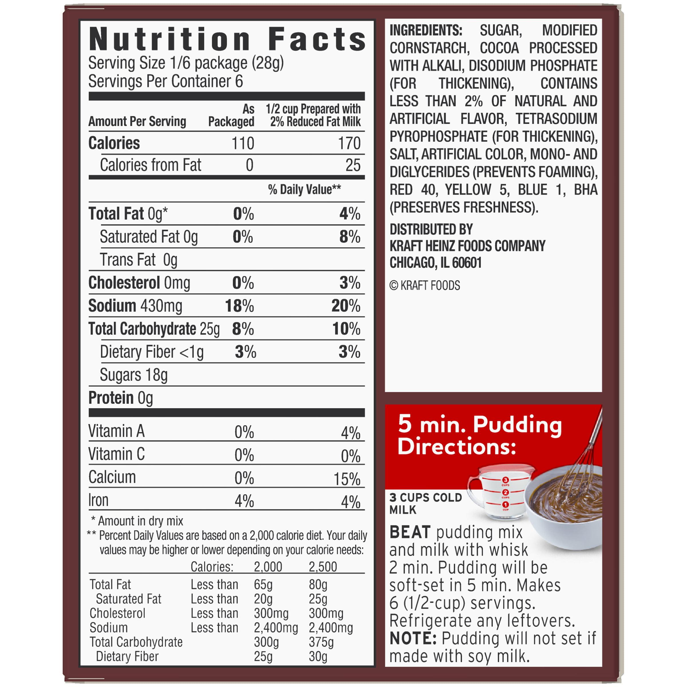 5 Pack) Jell-O Instant Chocolate Pudding & Pie Filling 5.9 oz Box -  Walmart.com - Walmart.com