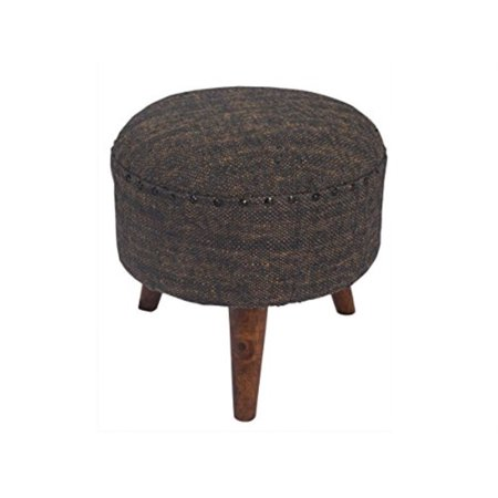 Outstanding Store Indya Wooden Round Ottoman Foot Stool Rest 100 Cotton With Foam Filler Upholstery Fabric Grey Color Home Furniture Dcor Unemploymentrelief Wooden Chair Designs For Living Room Unemploymentrelieforg