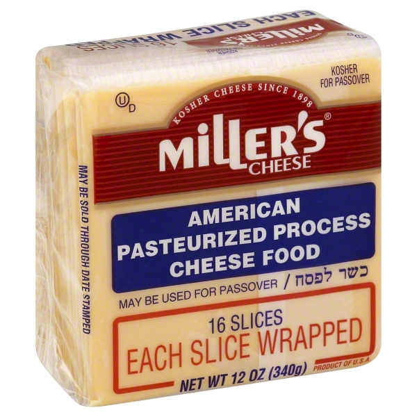 Miller's Slices American Pasteurized Process Cheese, 12 Oz., 16 Count