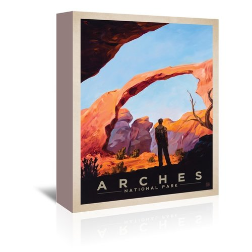 East Urban Home 'Arches National Park' Vintage Advertisement on Wrapped Canvas
