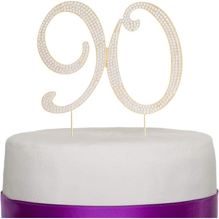 Cheap Birthday Decorations Ideas (90 Cake Topper for 90th Birthday Rhinestone Number Party Supplies & Decoration Ideas)
