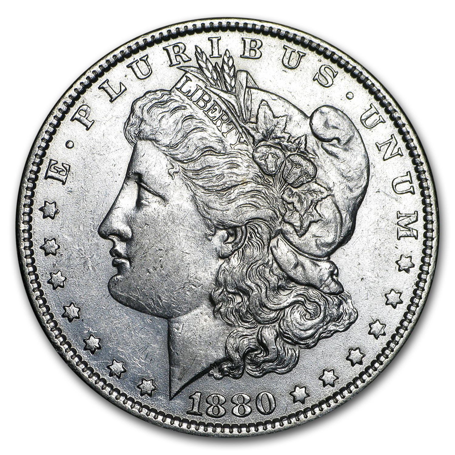 1880-O Morgan Silver Dollar AU