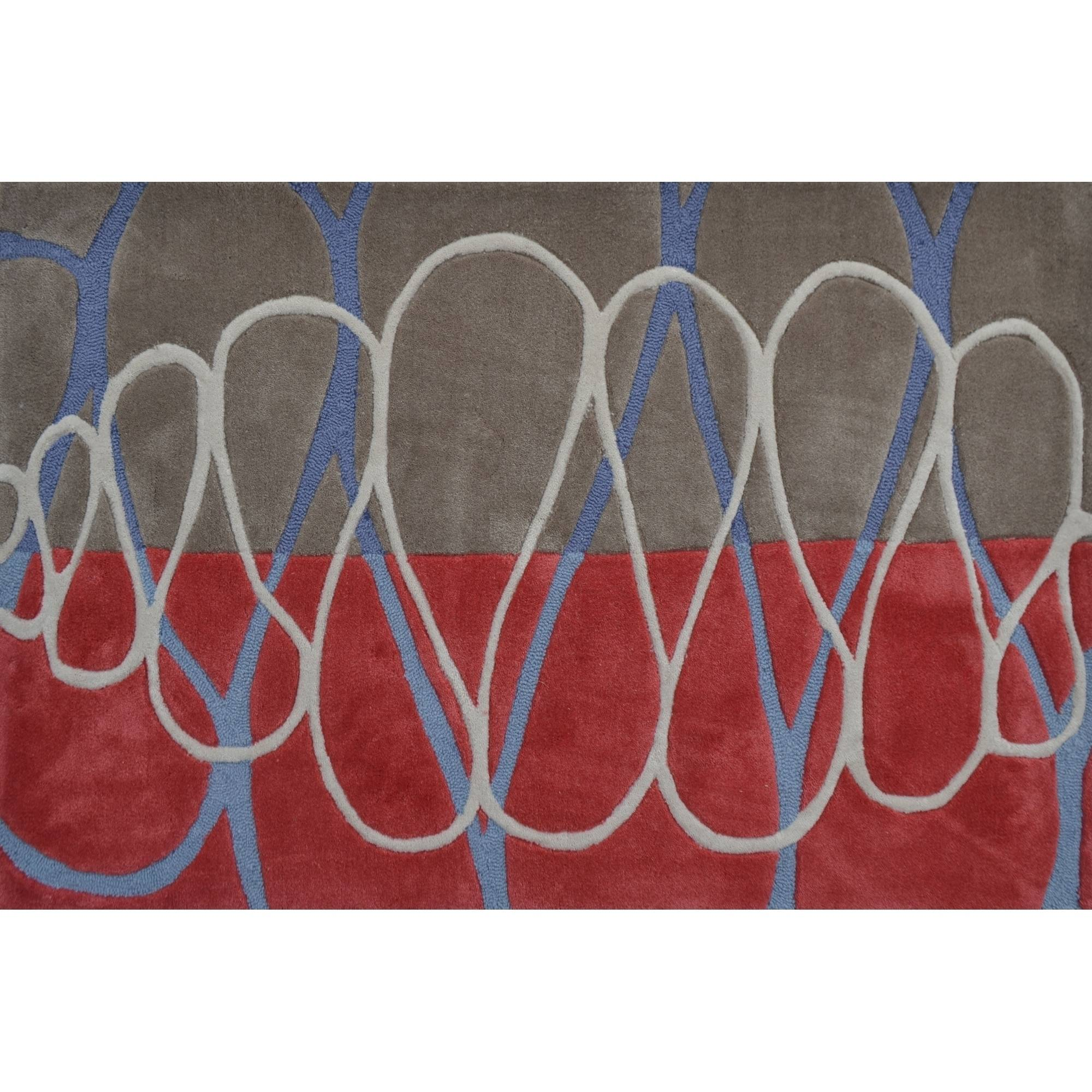 "The Rug Market Squiggle Strip Tan 2.8"" x 4.8"" Area Rug"
