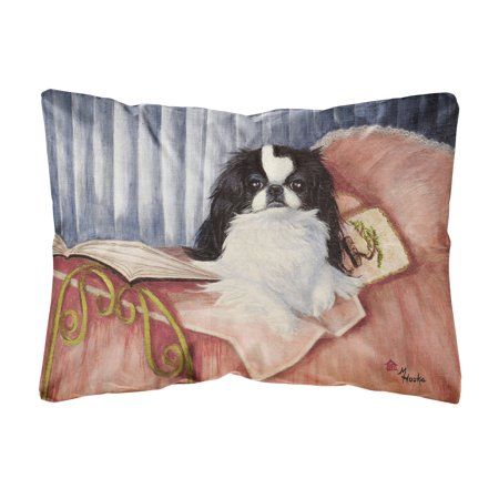 japanese chin reading in bed fabric decorative pillow. Black Bedroom Furniture Sets. Home Design Ideas