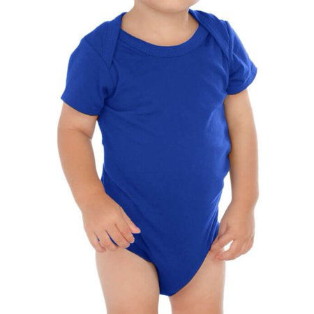 Kavio! Unisex Infants Lap Shoulder Short Sleeve Onesie Black 18M